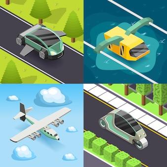 Zukünftiges konzept des entwurfes des transport-2x2