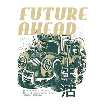 Zukunft voraus Licht