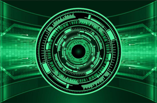 Zukunftstechnologie der cyber-schaltung des grünen auges