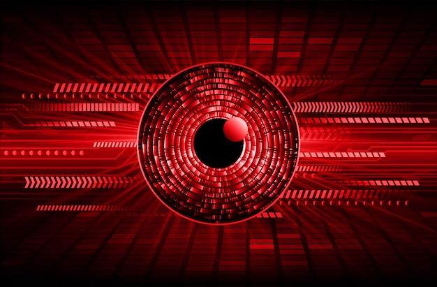 Zukunftstechnologie-konzepthintergrund der roten augen cyber-schaltung