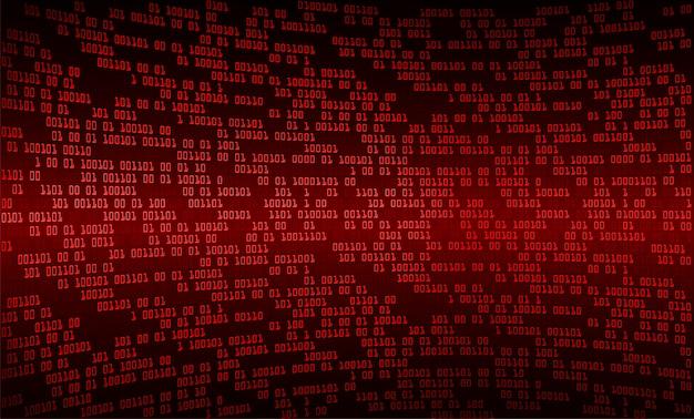 Zukunftstechnologie-konzepthintergrund des roten binären cyber-stromkreises