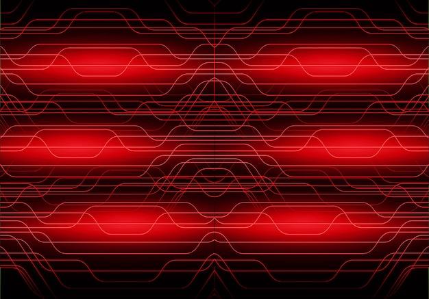 Zukunftstechnologie-konzepthintergrund des roten cyberstromkreises
