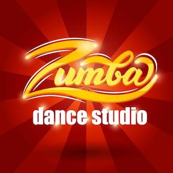 Zumba tanzstudio-fahnendesign