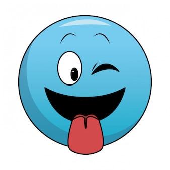 Zunge heraus chat emoticon