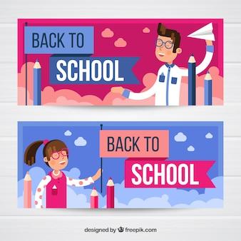 Zurück zu Schulfahnen in der flachen Art