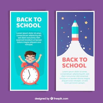 Zurück zu Schulfahnen mit flachem Design