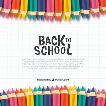 Zurück zu Schulhintergrund mit farbigen Bleistiften