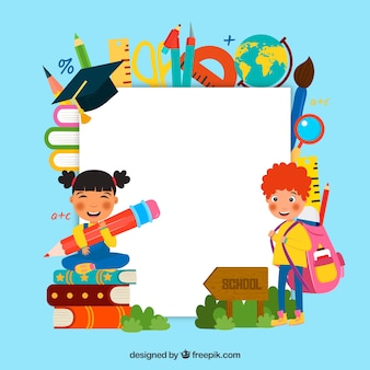 Zurück zu Schulhintergrund mit Kindern