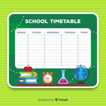 Zurück zu Schulzeitplanschablone