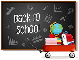 Zurück zur Schule auf Tafel
