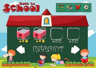 Zurück zur Schule Spielvorlage
