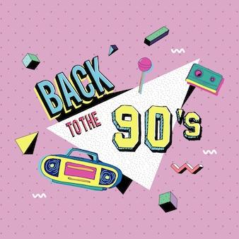 Zurück in den 90er-memphis-stil