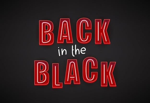 Zurück in den schwarzen zahlen