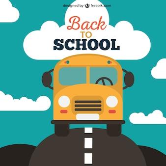 Zurück in der schule vektor mit bus