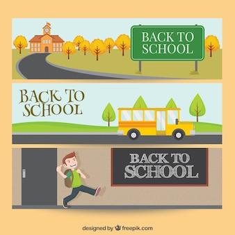 Zurück in die schule banner-pack