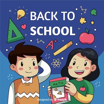 Zurück in die schule, glückliche lehrer oder schüler
