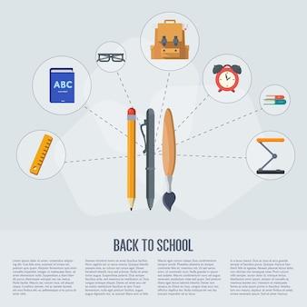Zurück in die schule infografiken
