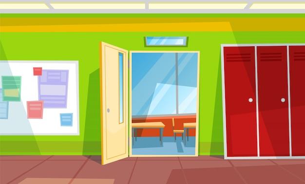 Zurück in die schule, klassenzimmer oder auditorium, halle