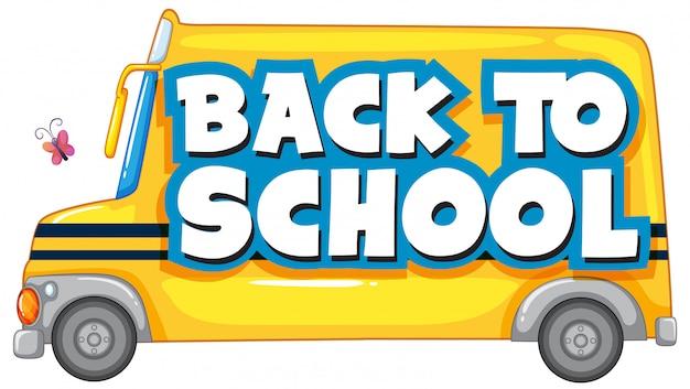 Zurück in die schule mit dem schulbus