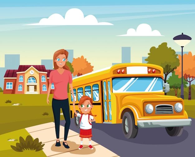 Zurück in die schule mit glück