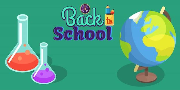 Zurück in die schule mit wissenschaftlicher ausrüstung