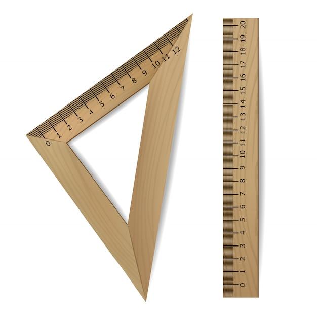 Zurück in die schule, realistisches lineal-set, schulbanner, isoliertes lineal, hallo herbst, hallo september