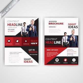 Zurück und schriftart corporate roten flyer