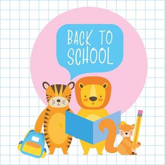 Zurück zu niedlichen tierkarikaturen der schule