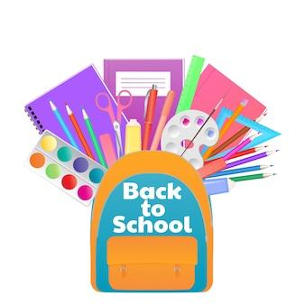 Zurück zu schulbanner, rucksack mit studienbedarf, schreibwaren.