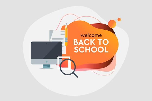Zurück zu schule abstraktes banner-vektor-bild