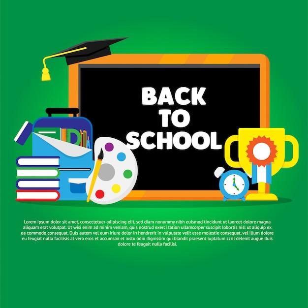 Zurück zu schule banner schule