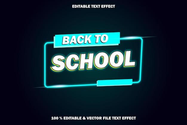Zurück zu schule editierbarer texteffekt retro-stil