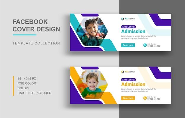Zurück zu schule facebook-cover-vorlagen-design
