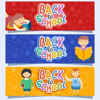 Zurück zu schule flyer broschüre vorlage