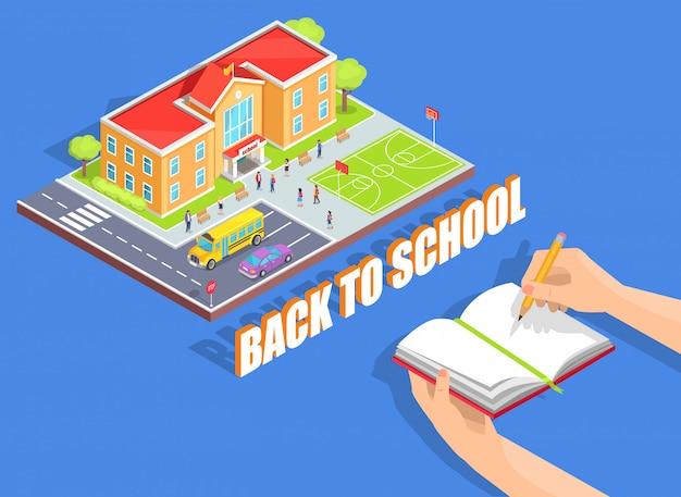 Zurück zu schule-illustration