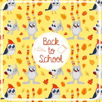 Zurück zu schule muster hintergrund