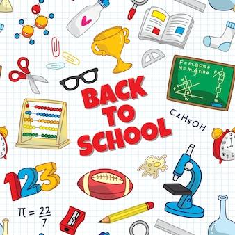 Zurück zu schule nahtlose hintergrund