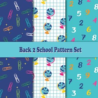 Zurück zu schule pattern set