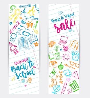 Zurück zu schule promo-banner-design.