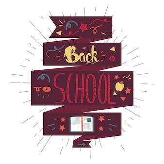 Zurück zu schule schriftzug