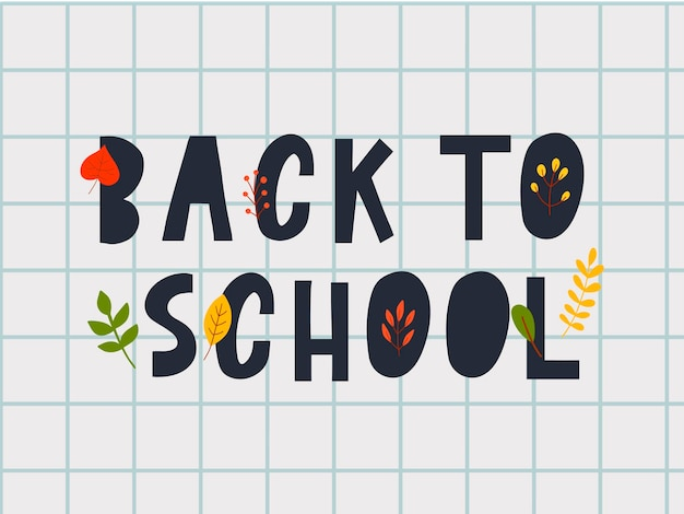 Zurück zu schule sketchy doodles mit hand drawn.vector illustration herbstlaub,lettern.design elements hintergrund, hintergrund. lehrertag.