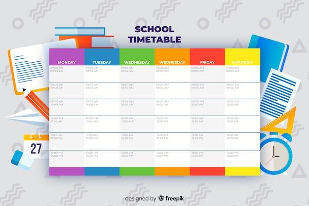 Zurück zu schule stundenplanvorlage