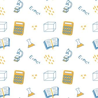 Zurück zu schule thema doodle hintergrund