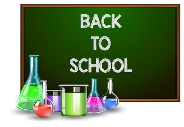 Zurück zu schule und laborgeräten