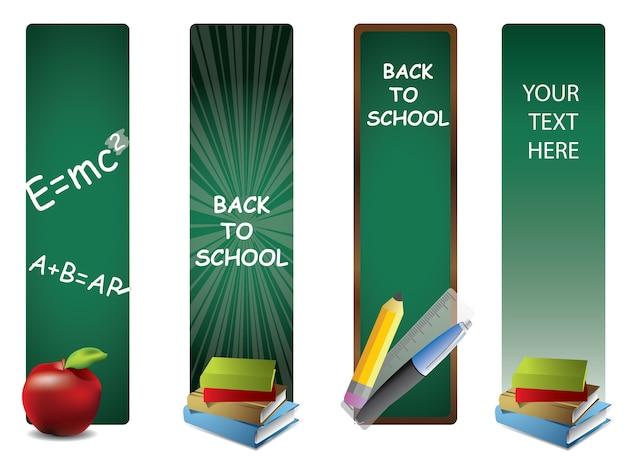 Zurück zu schule vertikale banner