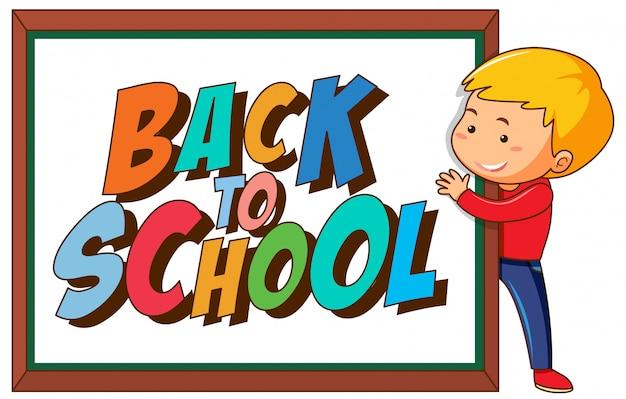 Zurück zu schule vorlage withboy