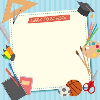 Zurück zu schule vorlage