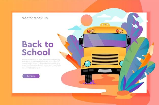 Zurück zu schule-webbanner-vektorbild