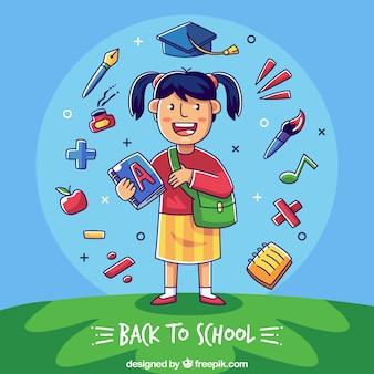Zurück zu schulhintergrund mit studenten
