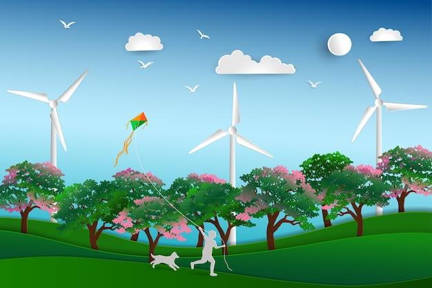 Zurück zur natur und rette das umweltkonzept